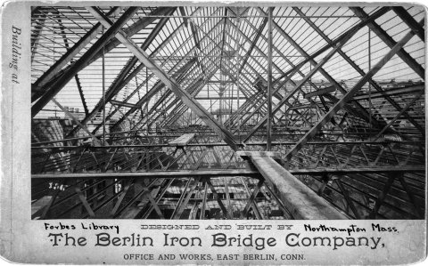 Photograph of the roof under construction