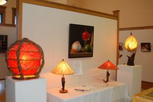 photo of Karl Knapp's exhibit in Hosmer Gallery